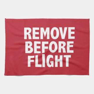 Remove Before Flight Tea Towel