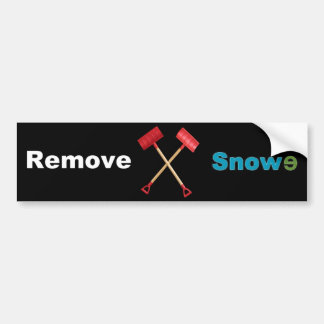 Remove Snowe Car Bumper Sticker