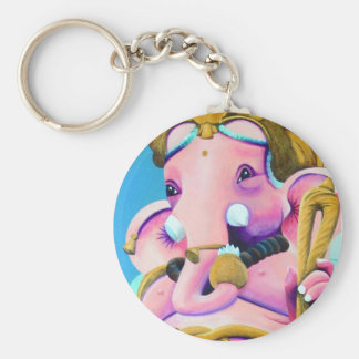 Remover of Obstacles Basic Round Button Key Ring