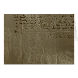 Remuneration Receipt, 17th December, 1704 Greeting Card