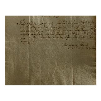 Remuneration Receipt, 17th December, 1704 Postcard