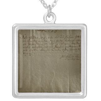 Remuneration Receipt, 17th December, 1704 Silver Plated Necklace