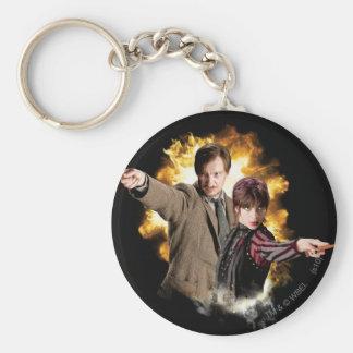 Remus Lupin and Nymphadora Tonks-Lupin Basic Round Button Key Ring