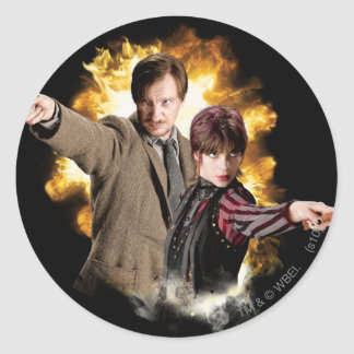 Remus Lupin and Nymphadora Tonks-Lupin Round Sticker