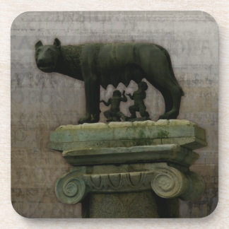 Remus Romulus and the she wolf Beverage Coaster
