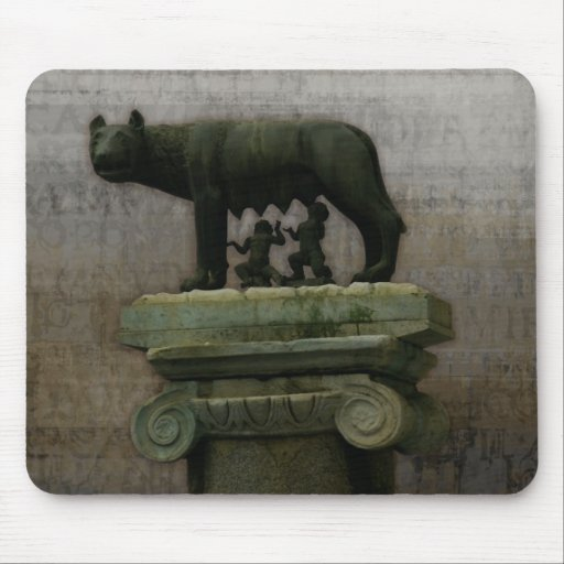 Remus Romulus and the she wolf Mousepad