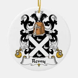 Remy Family Crest Round Ceramic Decoration