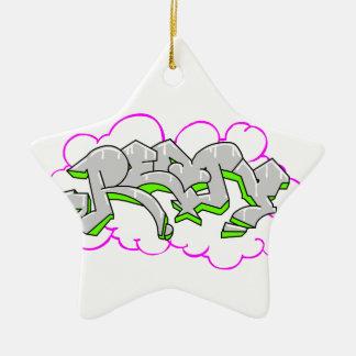 Remy Name Graffiti Ceramic Star Decoration