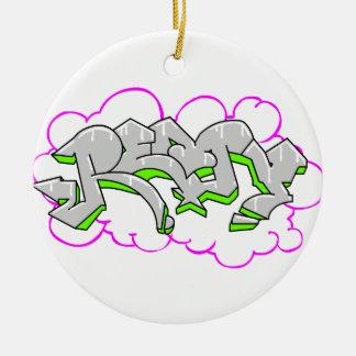 Remy Name Graffiti Round Ceramic Decoration