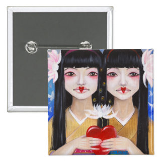 Ren Cho and Shinobu 15 Cm Square Badge