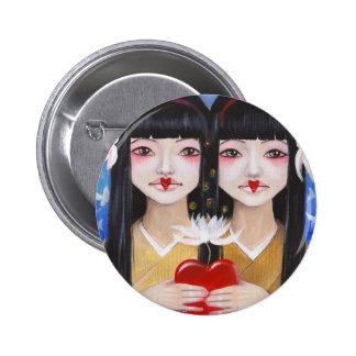 Ren Cho and Shinobu 6 Cm Round Badge