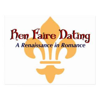Ren Faire Dating.com Fluer De Lis Postcard