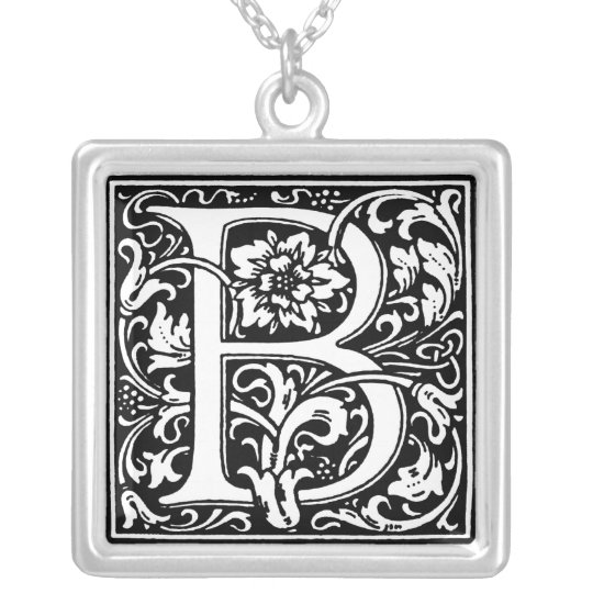 Renaissance Alphabet Letter B Necklace