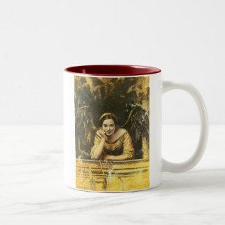 Renaissance Angel Design Two-Tone Coffee Mug