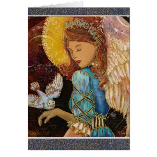 Renaissance Angel & Dove Christmas Card