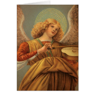 Renaissance Angel Playing Violin Melozzo da Forli Greeting Cards