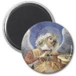 Renaissance Angel Round Magnet Melozzo da Forlì