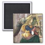 Renaissance  Angel Square Magnet Pinturicchio