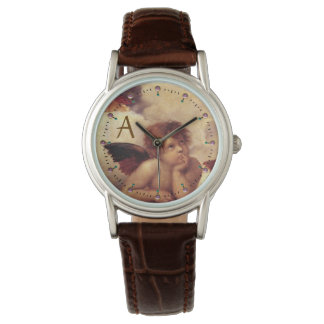 RENAISSANCE ANGEL /Winged Cherub Monogram Watch