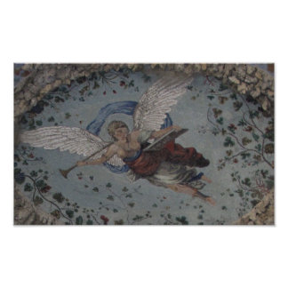 Renaissance angel with trumpet POSTER