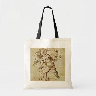 Renaissance Art, Cupid with a Violin by Campagnola Budget Tote Bag