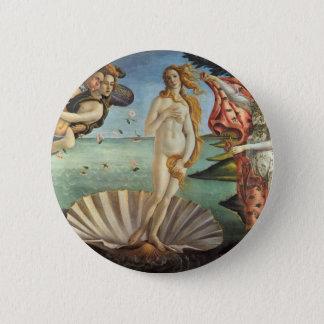 Renaissance Art, The Birth of Venus by Botticelli 6 Cm Round Badge
