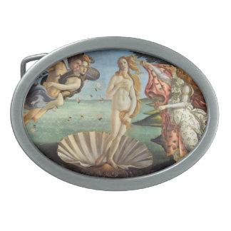 Renaissance Art, The Birth of Venus by Botticelli Oval Belt Buckle