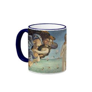 Renaissance Art, The Birth of Venus by Botticelli Ringer Mug