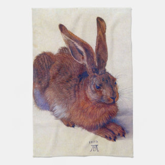 Renaissance Art, Young Hare by Albrecht Durer Tea Towel