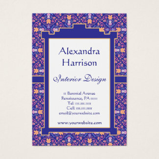 Renaissance Arts and Crafts Floral Pattern Business Card