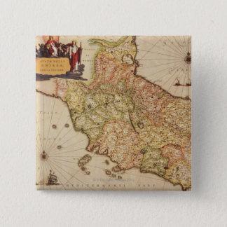 Renaissance Cartography 15 Cm Square Badge