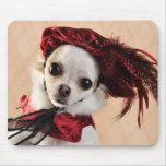 Renaissance Chihuahua in Red Velvet Mouse Pad
