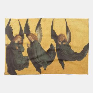 Renaissance Christmas Angels, Master of Housebook Tea Towel
