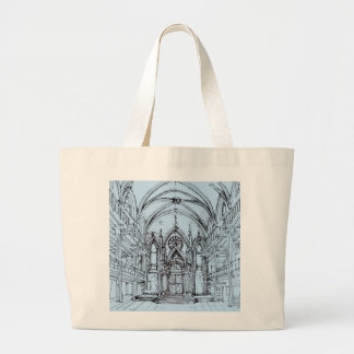 Renaissance gothic Orensanz drawing in blue Tote Bag