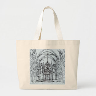 Renaissance gothic Orensanz drawing in blue Canvas Bag