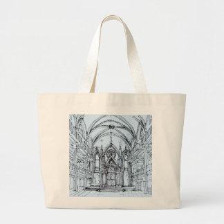 Renaissance gothic Orensanz drawing in blue Canvas Bag