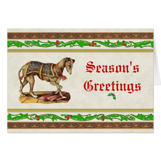 Renaissance Greyhound Christmas Card