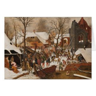Renaissance Holy Nativity Greeting Card