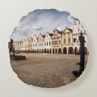 Renaissance Houses Round Cushion