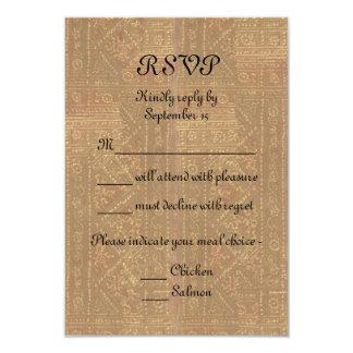Renaissance Lady and Knight Medieval Wedding RSVP 9 Cm X 13 Cm Invitation Card