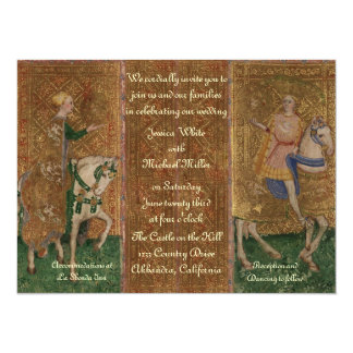 Renaissance Lady and Knight Wedding 14 Cm X 19 Cm Invitation Card