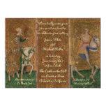 Renaissance Lady and Knight Wedding 14 Cm X 19 Cm Invitation Card