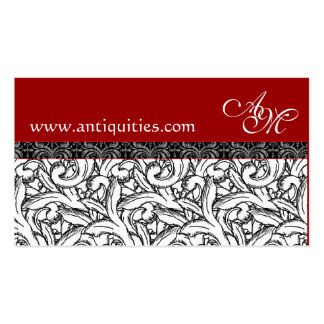 Renaissance Red, White & Black Business Cards