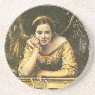 Renaissance Style Angel Fresco Coaster