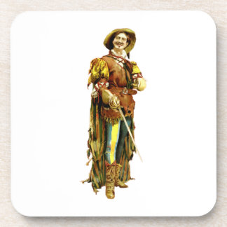 Renaissance Swordsman Vintage Illustration Coasters