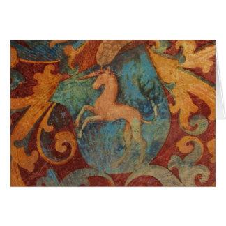 Renaissance Unicorn art Card