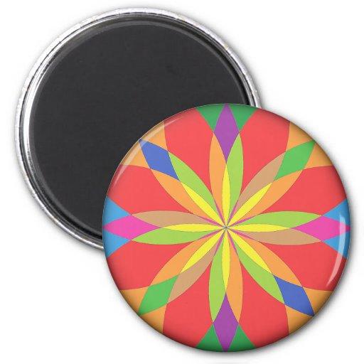 Renascencepub bright vibrant colours fridge 6 cm round for Bright vibrant colors