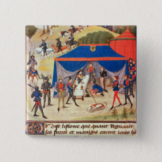 Renaud de Montauban and Charlemagne 15 Cm Square Badge