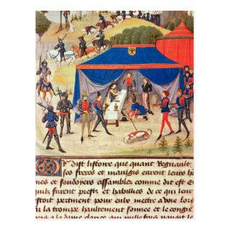 Renaud de Montauban and Charlemagne Postcard