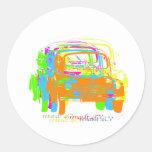 Renault 4CV Round Sticker